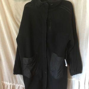 Free People Coat Long Jacket Black Size M